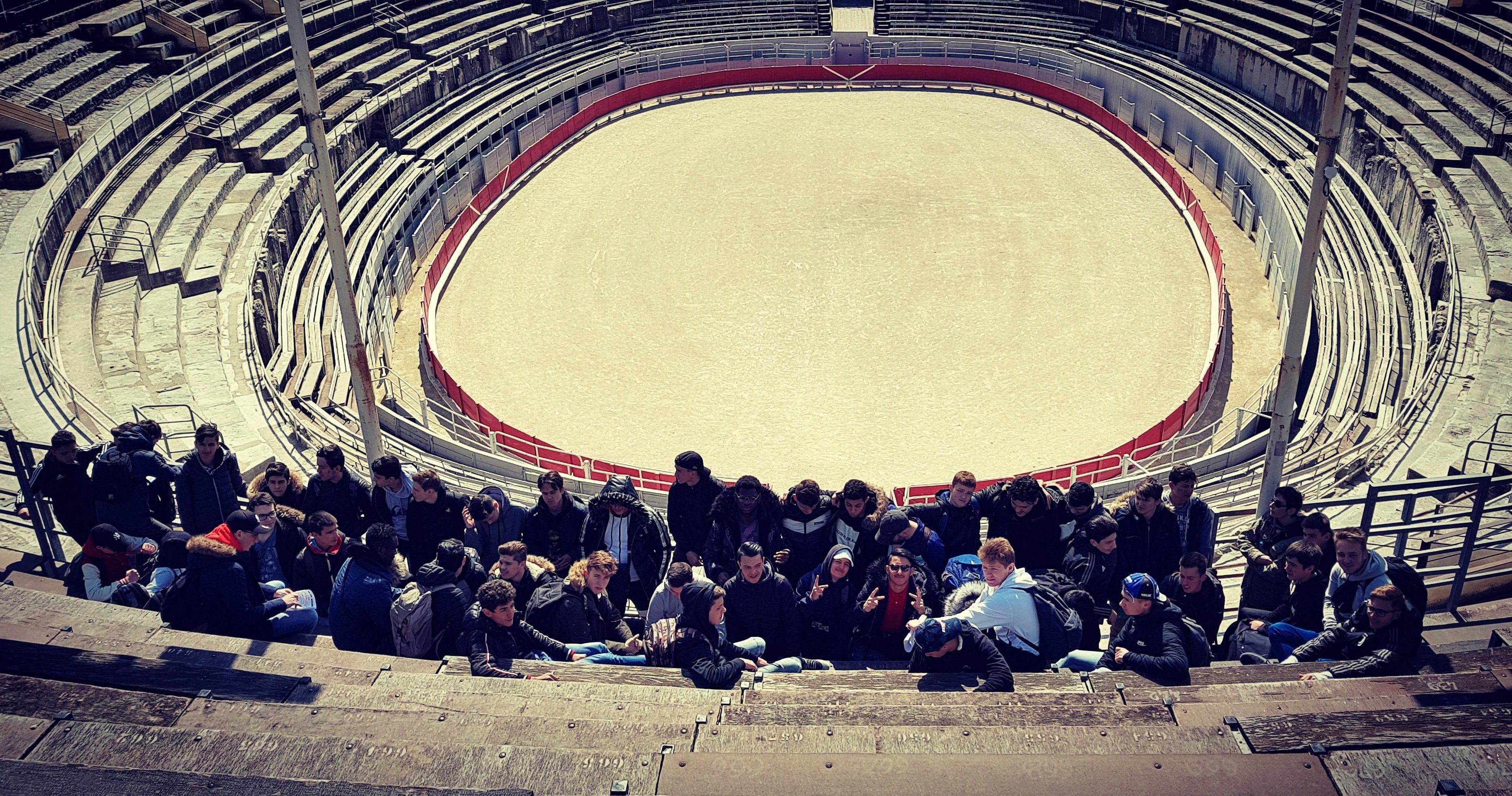 Lors de la Visite des Arènes d'Arles, classées au Patrimoine Mondial de l'Unesco